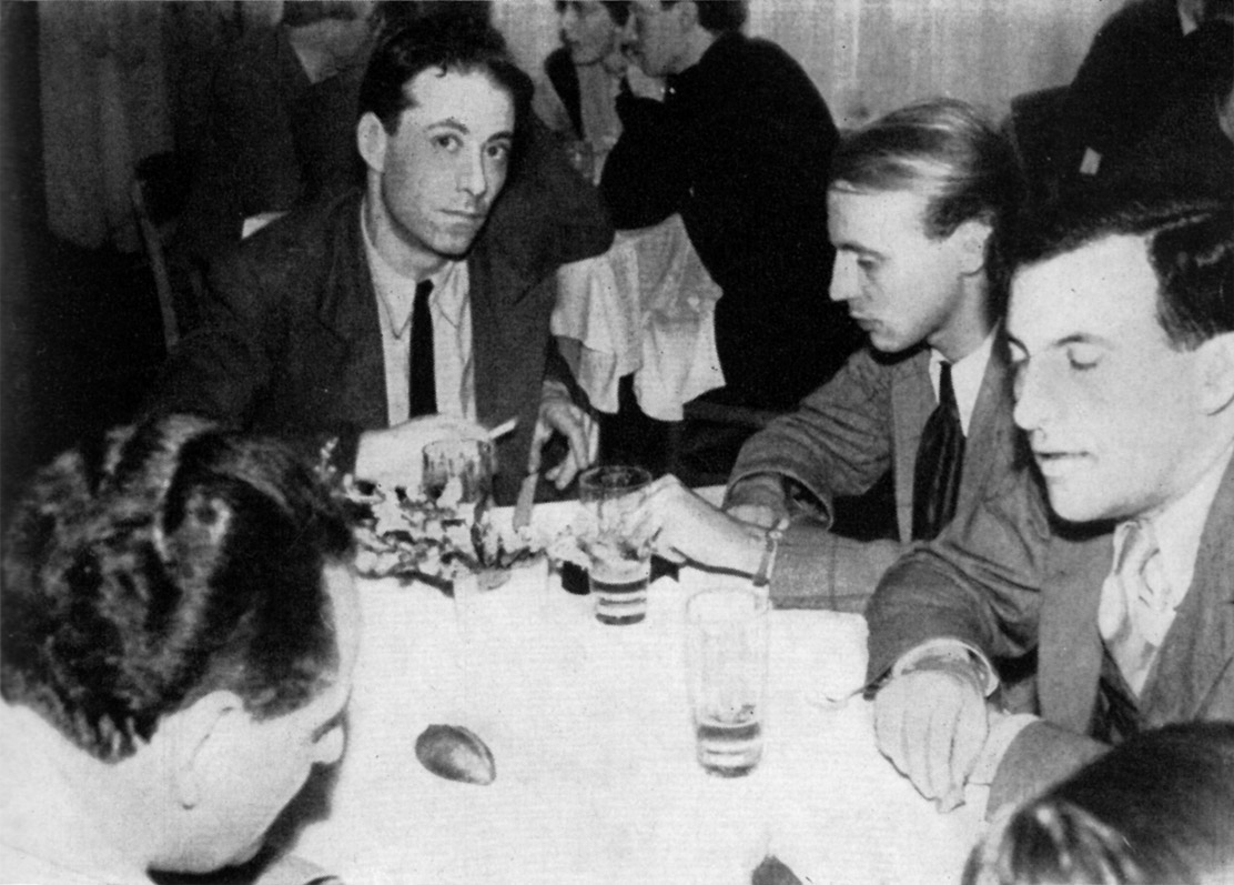 Hans Werner Henze with René Leibowitz (left) and Peter Stadlen