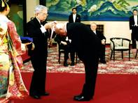 Granting of the Premium Imperiale, Arts award of the Emperor of Japan, Tokyo 2000